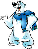 Illustrated polar bear Stock Image