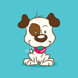 Illustrated puppy royalty free stock photography
