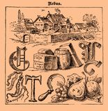 Rebus, illustrated riddles, old magazine Stock Photography