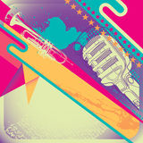 Illustrated retro layout. Illustrated retro layout in color Stock Images