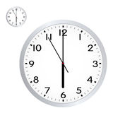 Illustrated Retro Office Wall Clock Stock Photo