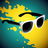 Illustrated retro sunglasses. Stock Photo