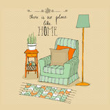 Illustrated room Stock Photos