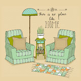 Illustrated room Royalty Free Stock Photo