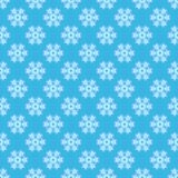Illustrated seamless abstract blue background with snowflakes. Illustrated seamless abstract blue background with pattern of decorative white snowflakes Royalty Free Stock Photo