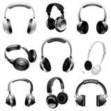 Illustrated set of headphones Stock Image
