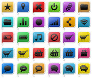 Colorful icons set. An illustrated set of 30 large Colorful  icons for web, Finance, sale and other industries Royalty Free Stock Photography