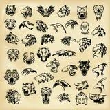 Illustrated set of wild animals Royalty Free Stock Image