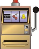 Illustrated slot machine Royalty Free Stock Photo