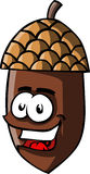 Illustrated smiling acorn Royalty Free Stock Photography