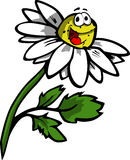 Illustrated smiling daisy Stock Photography