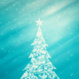 Illustrated snowflake Christmas tree illustration background Stock Photos