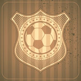 Illustrated soccer crest. Vector illustration Stock Images