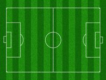 Illustrated soccer field Royalty Free Stock Images