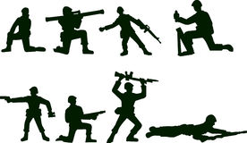 Illustrated Soldiers. A vector illustration of some toy soldiers isolated over a white background Stock Photography