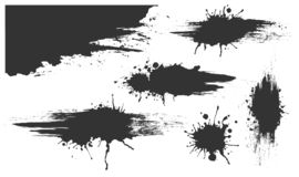 Illustrated Spots Set Bloat Collection In Black And White Royalty Free Stock Photo