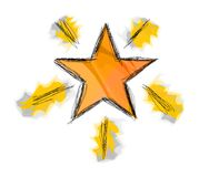 Illustrated star. A simple illustration of a star royalty free illustration