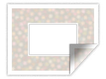 Illustrated sticker/frame with floral pattern Stock Photography