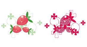 Illustrated strawberries Royalty Free Stock Photography