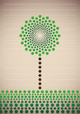 Illustrated stylized tree. Stock Image