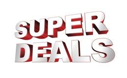 Super deals sign Stock Photos