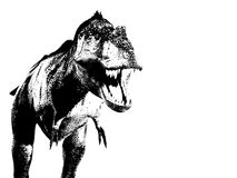 Illustrated T Rex. Illustration of a dangerous Tyrannosauruses Rex Royalty Free Stock Photo