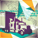 Illustrated transportation background. Stock Images
