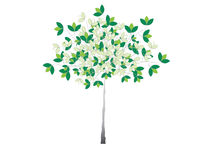 Illustrated tree with green leaves Royalty Free Stock Photo