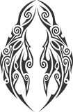 Illustrated tribal mask tattoo Stock Image
