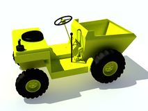 Illustrated utility tractor. An illustrated view of a multipurpose, light duty, utility tractor Vector Illustration
