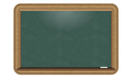Illustrated Vector green chalkboard with nice realistic wood border. Stock Photography