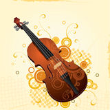 Illustrated violin with design Stock Image