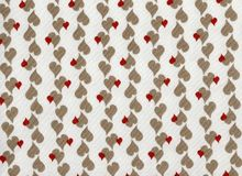 Illustrated wallpaper of small hearts repeated regularly. Royalty Free Stock Photos