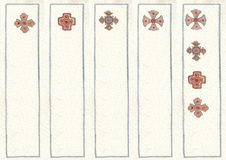 Illustrated in watercolor bookmarks Royalty Free Stock Photos