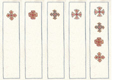 Illustrated in watercolor bookmarks Royalty Free Stock Image