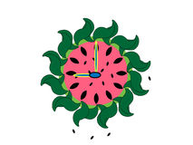 Illustrated Watermelon Clock Stock Photo