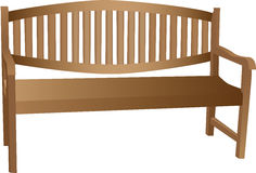 Illustrated wooden bench Stock Photo