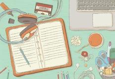 Illustrated workplace organization. Stock Image