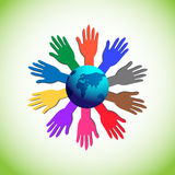Illustrates the Concept of Volunteer Support, Charity, Unity and Strength Stock Image