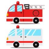 Illustrateur d'ambulance et de camion de pompiers Images stock