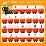 Illustrateur Write l'A-Z absent de lettre Photographie stock libre de droits