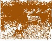 Illustrati esquelético del fondo Imagen de archivo libre de regalías