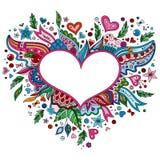 Illustrati för dag för valentin för klotter för tecknad filmvektor hand dragen lycklig vektor illustrationer