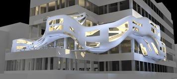 Illustrati futuristico del highrise Immagine Stock Libera da Diritti