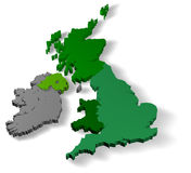 Illustratie 3d van het Verenigd Koninkrijk van Groot-Brittannië Royalty-vrije Stock Afbeeldingen