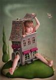 Illustratie aan het sprookje Alice in Sprookjesland Stock Afbeeldingen