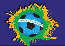 Illustratie Abstracte voetbal als achtergrond Stock Foto