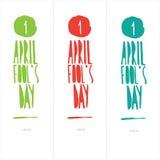 Illustratie die de Dag van April Fools vieren ' Royalty-vrije Stock Foto's