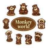 Illustratie die een aap afschildert Royalty-vrije Stock Afbeeldingen