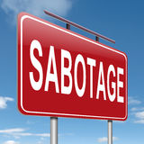 Het conceptenteken van de sabotage. vector illustratie